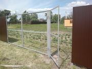 Ворота распашные с калиткой под ключ 3 на 1, 5 метра