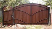 Ворота распашные под ключ Лида
